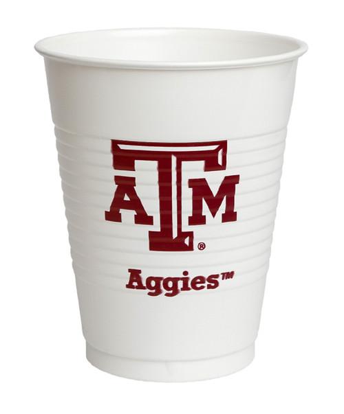 Texas A&M Aggies  8 Count 14oz Plastic Cups