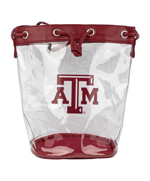 Madison Clear Bucket | Maroon