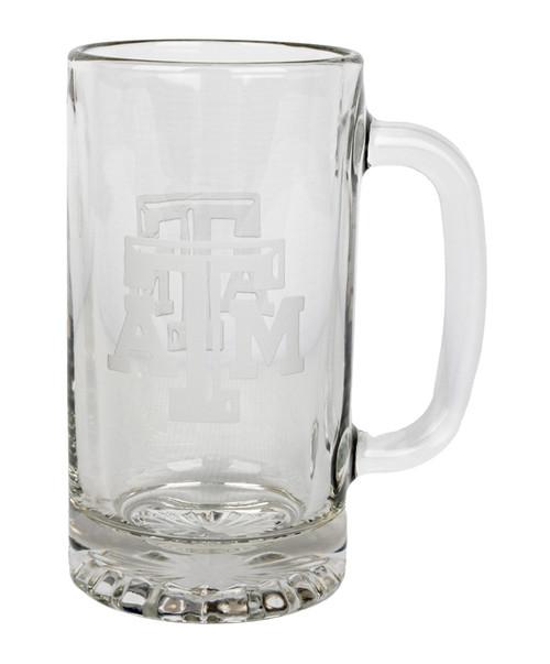 Texas A&M Aggies 16oz Deep Etched Glass Beer Mug