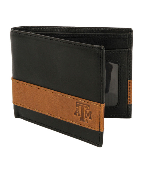 Texas A&M Aggies Logo 2-Tone Billfold Wallet - Black