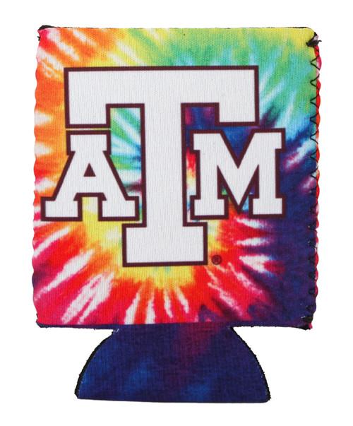 Texas A&M Aggies Logo Rainbow Tie Dye Koozie
