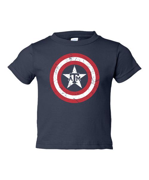 Texas A&M Aggies Toddler ATM Star In Circle Short Sleeve T-Shirt | Navy