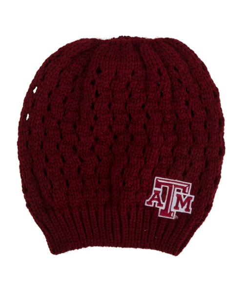 Texas A&M Aggies Knit Bun Maroon Beanie
