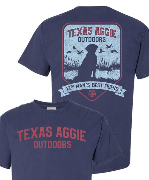 Texas A&M Aggie Outdoors 12Th Man's Best Friend Short Sleeve T-Shirt   Navy