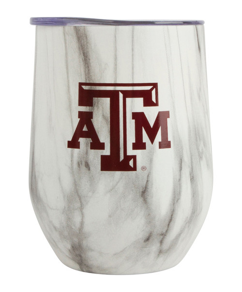 Texas A&M Aggies Block ATM Marbled Stemless Wine Cup