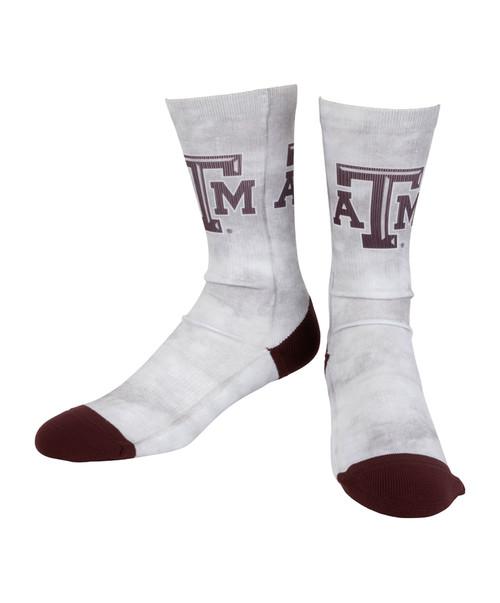 Texas A&M Aggie Full Body Tie Dye Acid Wash Sock