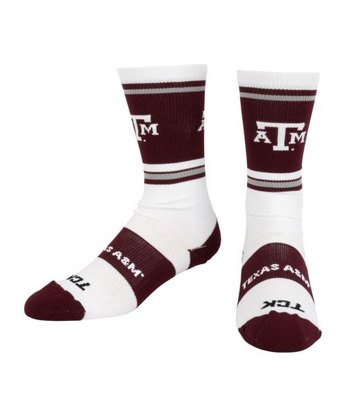 Texas A&M Aggies Jersey Crew Socks