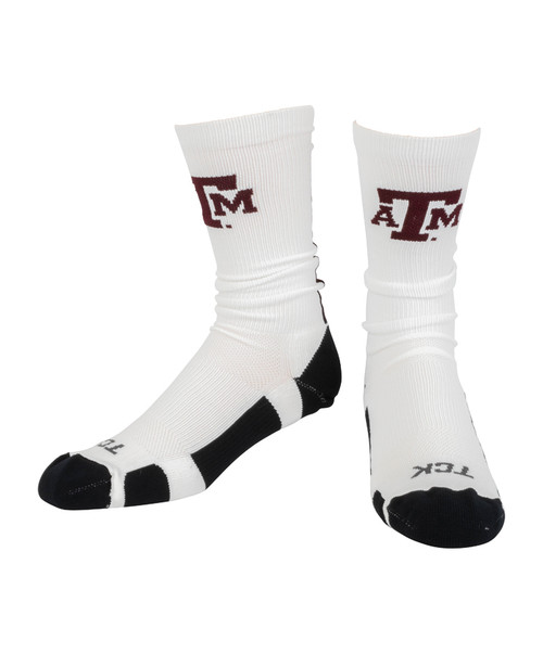 Texas A&M Aggies Baseline 3.0 Crew Sock - White