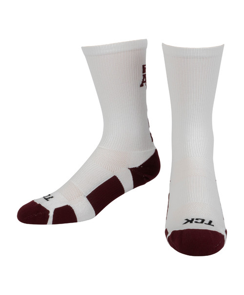 Texas A&M Aggies Baseline Crew Socks - White