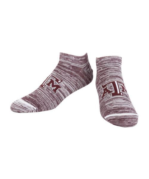 Texas A&M Aggies Logo No Show Socks | Maroon