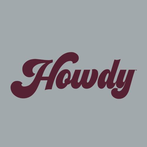 Texas A&M Aggies 6 x 2.25 Howdy Script Decal | Maroon