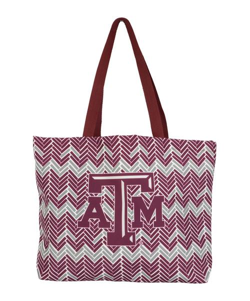 Texas A&M Aggies Galleria Tote Bag   Grey & Maroon