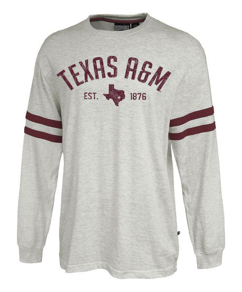 Texas A&M Aggies Arch Over Lonestar With Vintage Maroon Stripe Long Sleeve