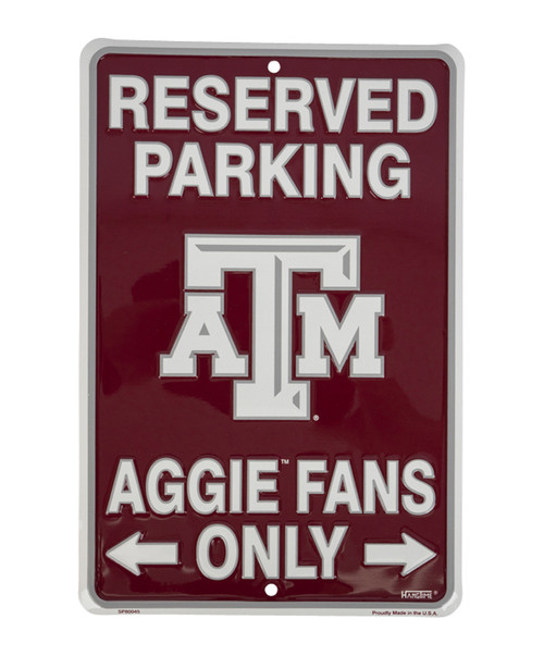 "Texas A&M Aggies 8""x12"" Metal Parking Sign"