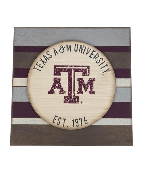 Texas A&M Aggies Vintage 16x16 Board