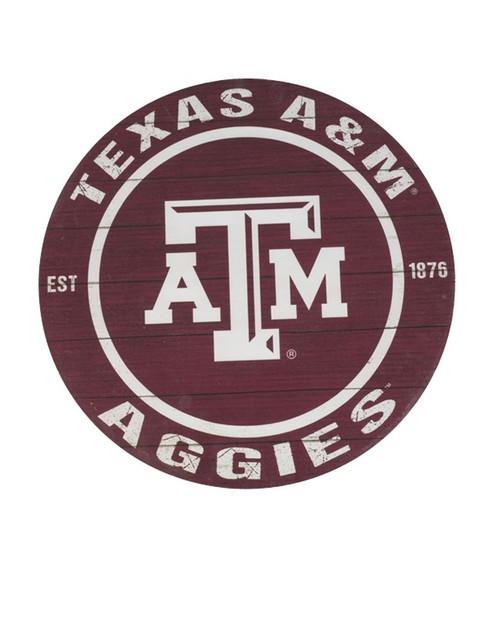 20X20 Texas A&M Aggies Circle Sign