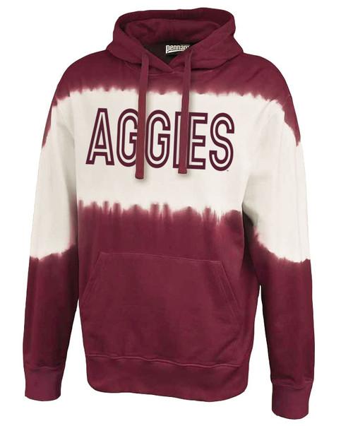 Texas A&M Block Aggies Tie Dye Maroon & White Hood