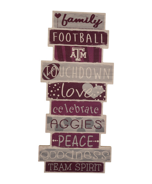 """Texas A&M Aggies Celebrations Stack 24"""" Sign"""