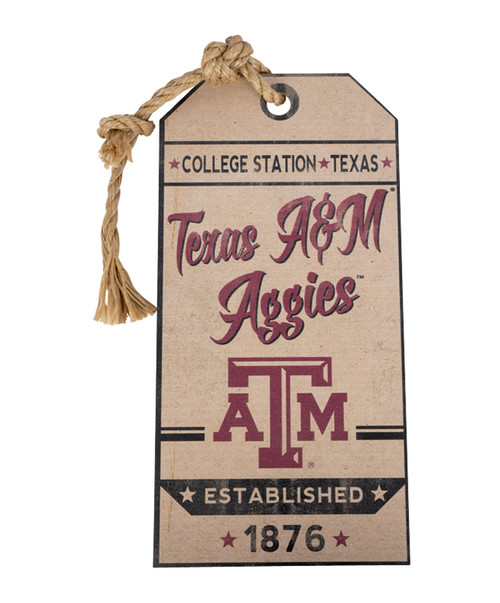 Texas A&M Aggies Small Hanging Tag Vintage Sign
