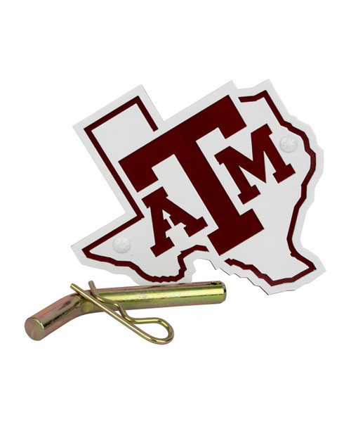 Texas A&M Aggies Maroon & White State Hitch Cover