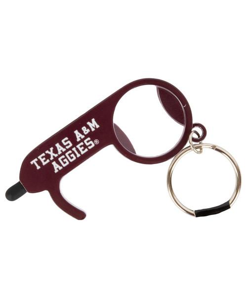 Texas A&M Aggies Zero Touch Door Opener & Keychain