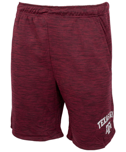 Texas A&M Aggies Drawstring Pocketed Shorts  | Heather Maroon