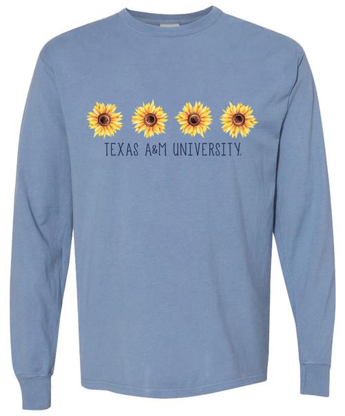 Texas A&M University Ladies Sunflower Long Sleeve T-Shirt | Saltwater