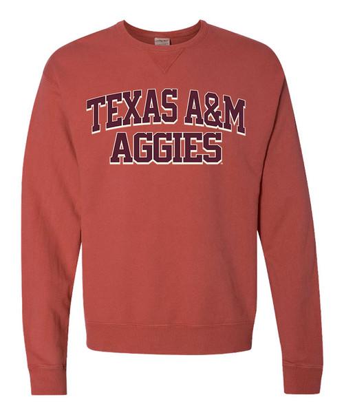 Texas A&M Aggies Comfort Colors Crewneck Cayenne Sweatshirt