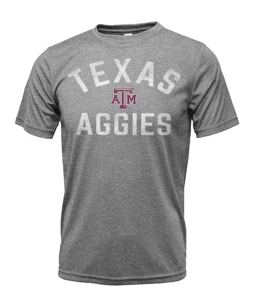Texas A&M Aggies Youth Short Sleeve Active Shirt   Heather Grey