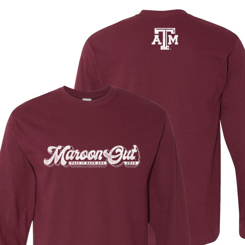 Texas A&M Aggies 2020 Adult Maroon Out Long Sleeve T-Shirts   Maroon