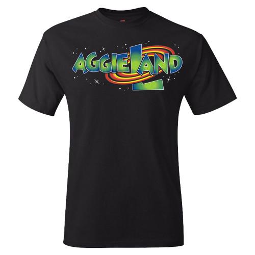 Aggieland Space Black Short Sleeve T-Shirt