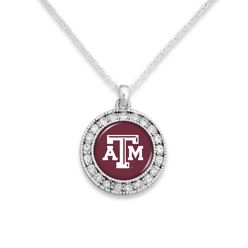 Texas A&M Aggies Kenzie Collection Maroon & Silver Necklace