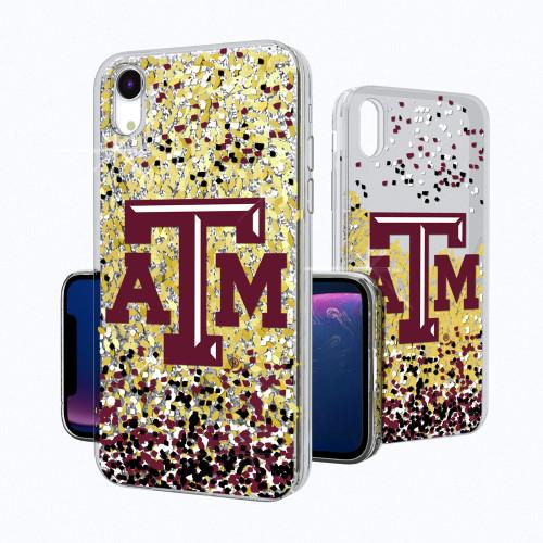 Texas A&M Aggies Confetti Gold Glitter iPhone XR Case