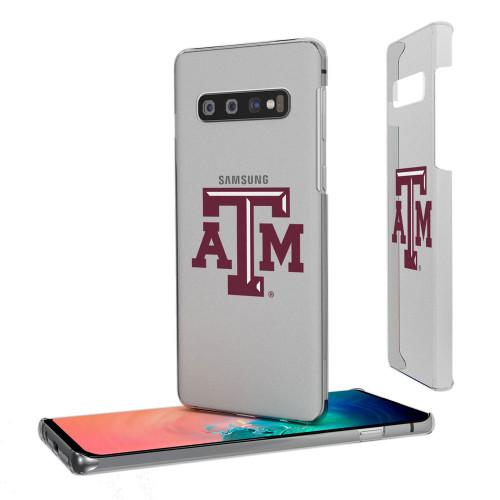 Texas A&M Aggies Insignia Galaxy S10+ Clear Slim Case