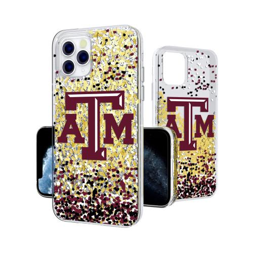 Texas A&M Aggies Confetti Glitter iPhone 11 Pro Gold Glitter Case