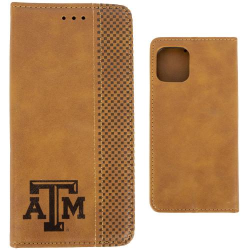 Woodburned Folio iPhone 11 Pro Case