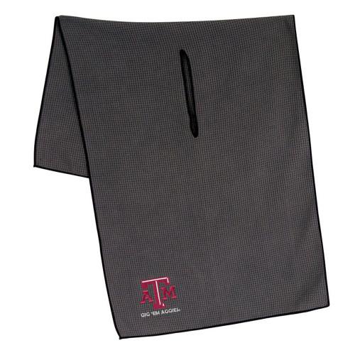 "19"" x 41"" Grey Microfiber Golf Towel With 8"" Center Slit"