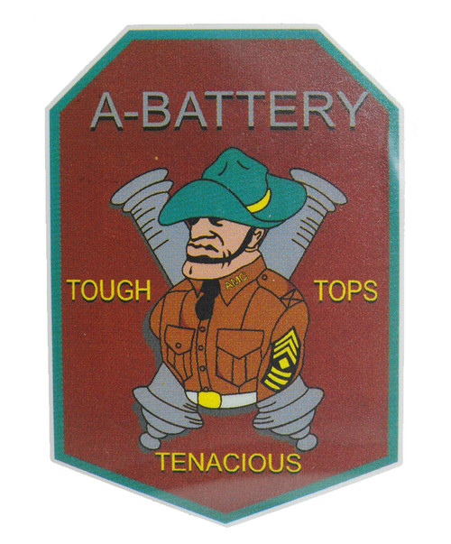 Texas A&M Corps Of Cadets A-Battery Maroon Car Decal