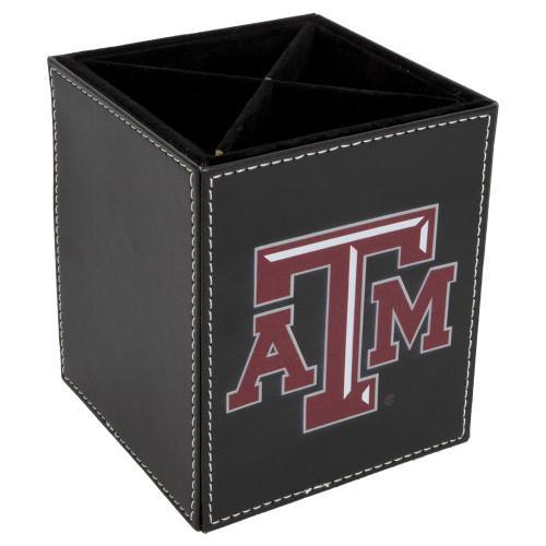 Texas A&M Aggies Black Square Desk Caddy