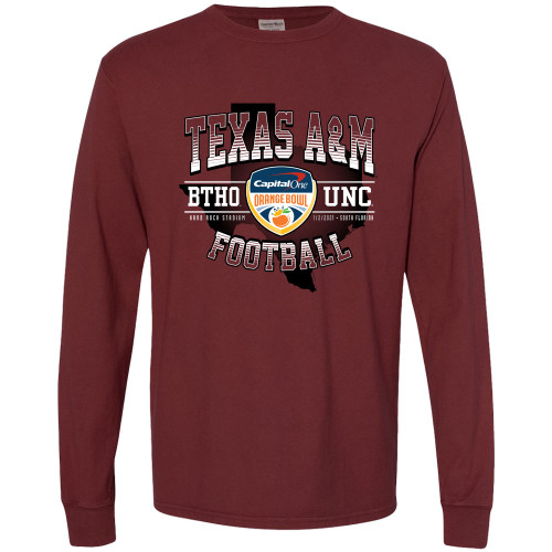 Texas A&M Aggies Maroon 2021 Orange Bowl Long Sleeve T-Shirt
