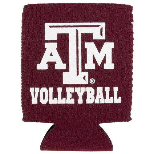 Texas A&M Aggie Maroon Volleyball Koozie