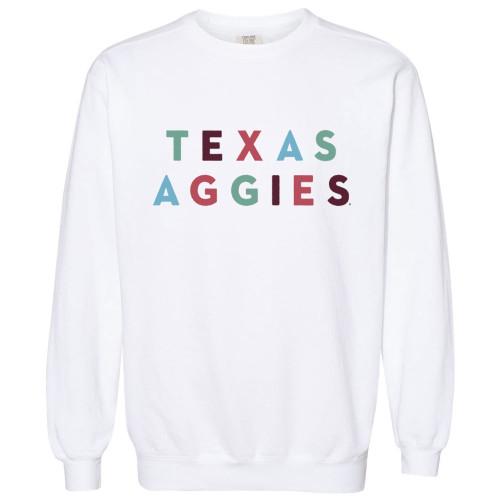 Girly Design Comfort Colors White Crewneck Sweatshirt