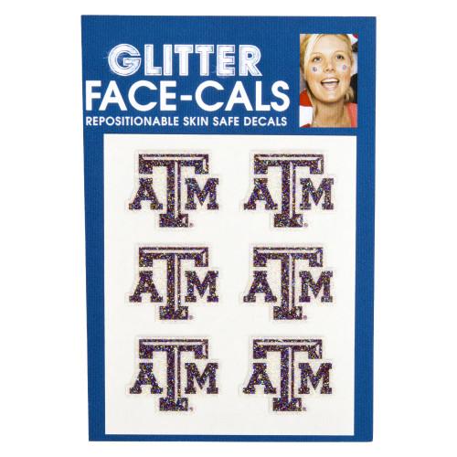Texas A&M Aggies Glitter Face-Cals