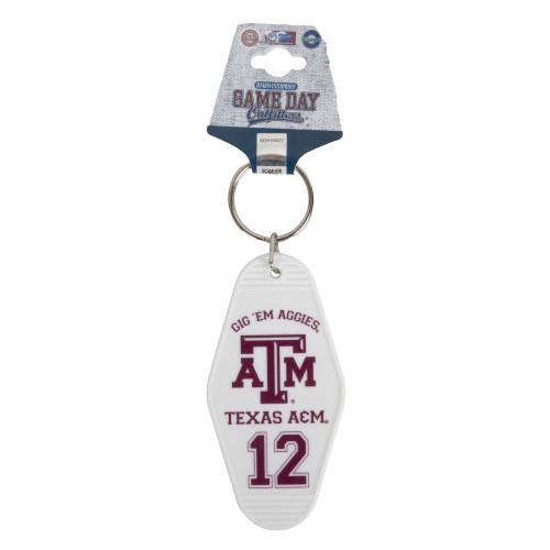 Texas A&M Aggies Retro Hotel Keychain