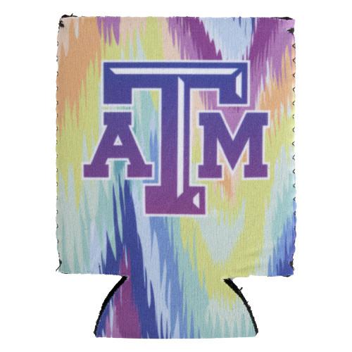 Texas A&M Aggies Logo Pastel Tie Dye Koozie
