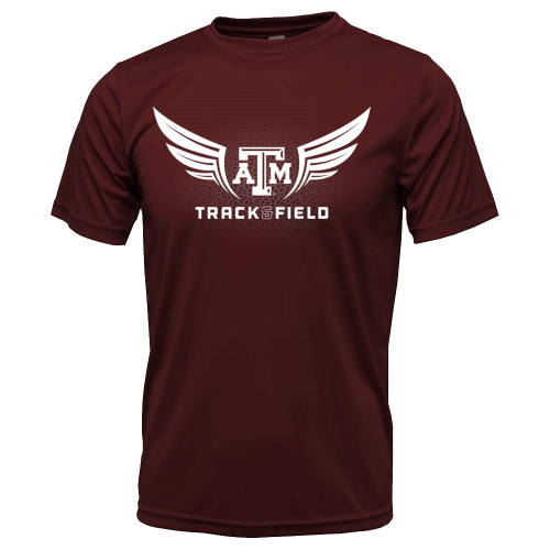 Winged Track & Field Active Maroon Short Sleeve T-Shirt