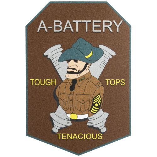 Corps of Cadets A-Battery Car Decal