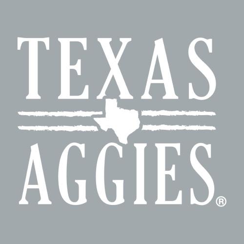 3 x 3.5 Texas Aggies Decal | White