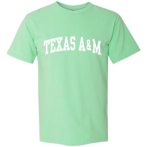 Texas A&M Aggies Arch Comfort Colors Soft Mint Short Sleeve T-Shirt