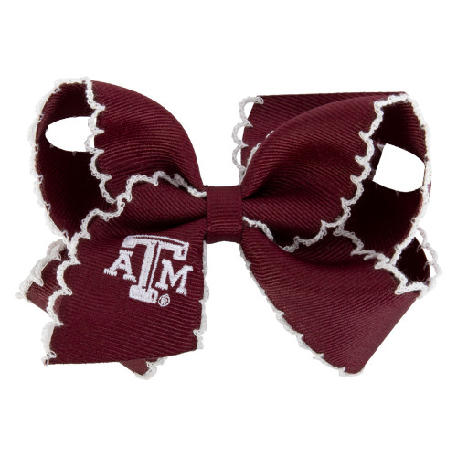 Texas A&M Aggies Medium Gameday Embroidered Maroon & White Bow